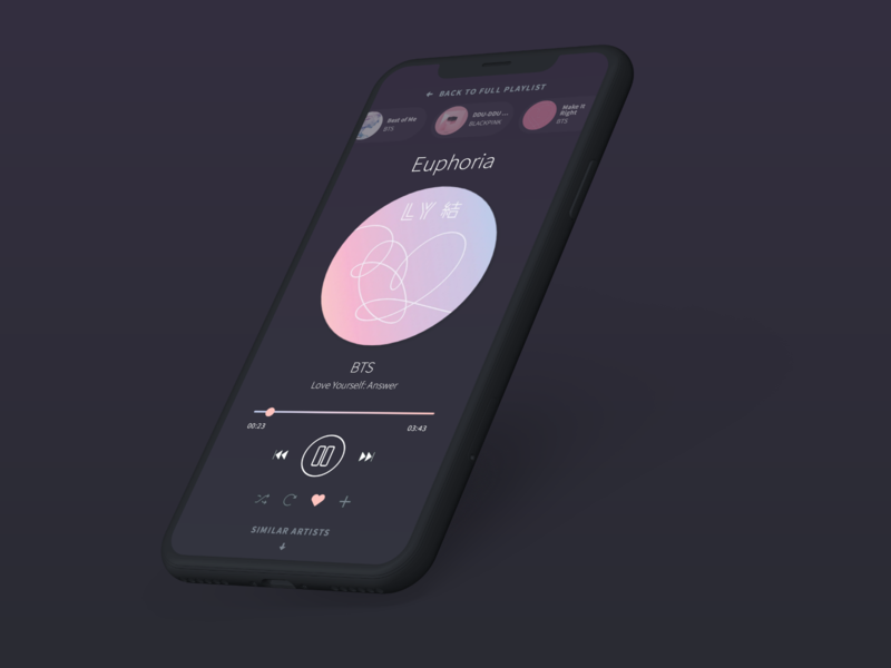 Daily UI – 009 Music Player by Taylor A  Cox on Dribbble