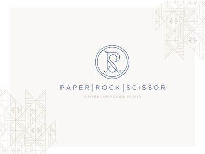 PRS monogram logo wedding pattern monogram logo