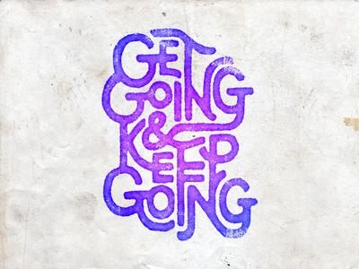 Handlettering: Motto, v. II vintage handdrawn inspiration type typography handlettering lettering
