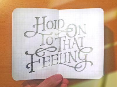 Handlettering: Don't Stop Believin' summerofsketching lyrics handdrawn inspiration type typography handlettering lettering