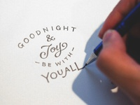 Handlettering: The Parting Glass
