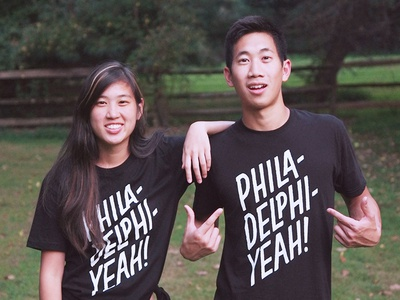 Brotherlly Apparel: PhiladelphiYeah handdrawn handlettering lettering philadelphia philly branding apparel logo