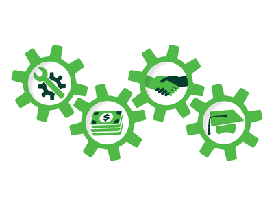 Growth Matters: Manufacturing Icons illustration illustrator corporate growth vector icons