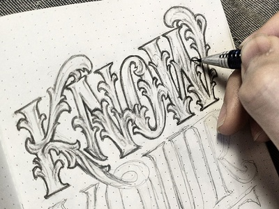 Handlettering: Know Your Value WIP inspiration vintage type typography lettering handlettering
