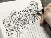 Handlettering: Know Your Value WIP