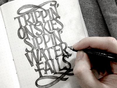 Handlettering: Youth lyrics vintage type typography lettering handlettering