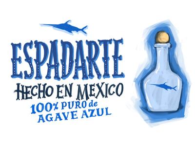Three-A-Week 01: Tequila  three a week sketch procreate lettering illustration digital paint digital brand