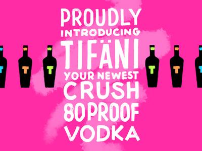 Three-A-Week 03: Vodka  three a week sketch procreate lettering illustration digital paint digital brand