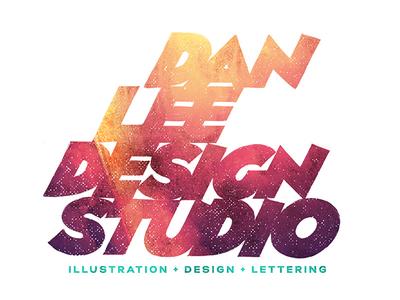 Dan Lee Design Studio Logo Refresh typography type lettering logo