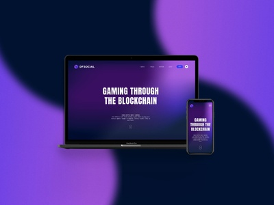DFSOCIAL Homepage design gradient gaming defi blockchain website homepage webdesign product design uidesign ui graphic design branding cryptocurrency crypto