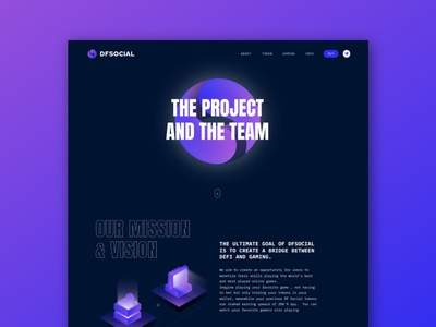 DFSocial Website Design gaming about user interface webdesign product design ui design ui design blockchain graphic design cryptocurrency crypto