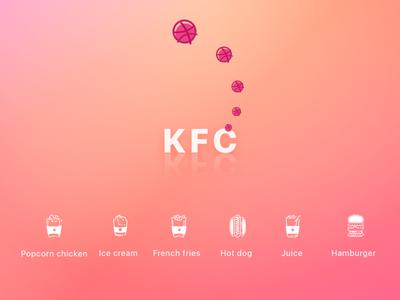 KFC  kfc food icons dirbbble color invite