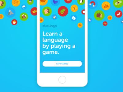 Duolingo's Welcome Screen mobile screen welcome screen splash
