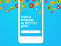 Duolingo's Welcome Screen