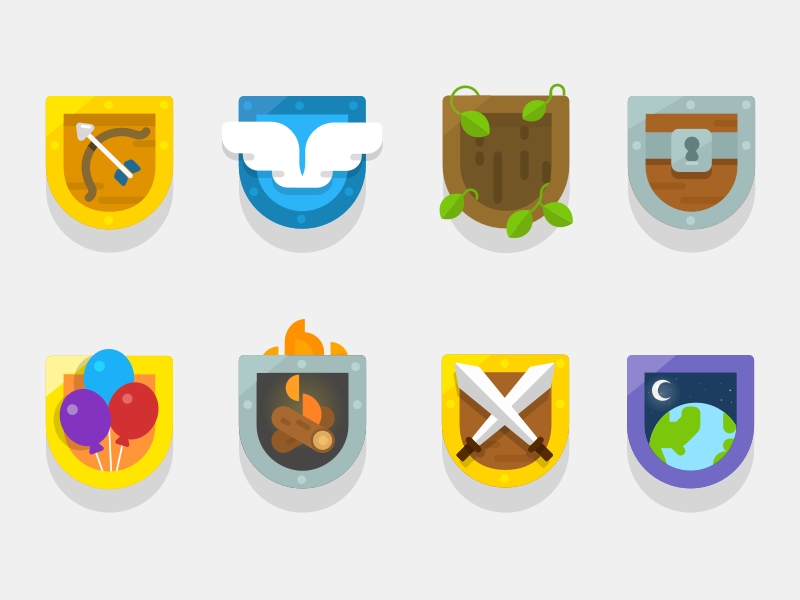 Club Themes icons houses themes badges