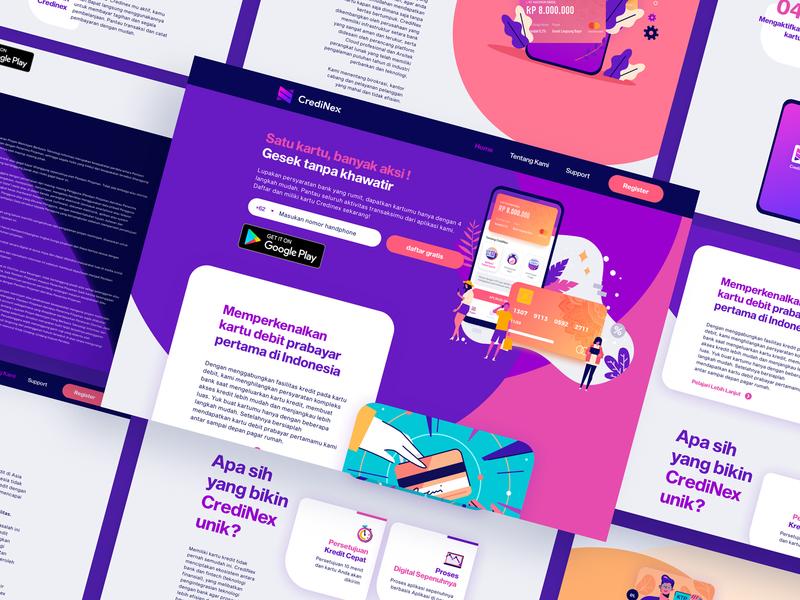 CrediNex Landing Page card finance finance business uiux desktop credinex landing page design landing page