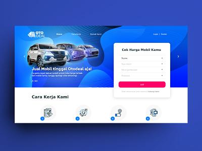 Otodeal Website web design automotive uiux car website car selling website webdesign car selling car website design website otodeal