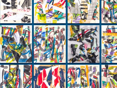 Collage Works abstracts colorful abstract pattern pattern collage abstract art abstract drawing pastel collage art