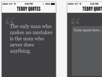 Teddy Quotes... a test app
