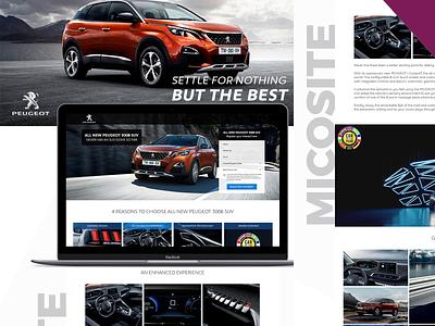 Peugeot Landing page ui branding webdesign ux design