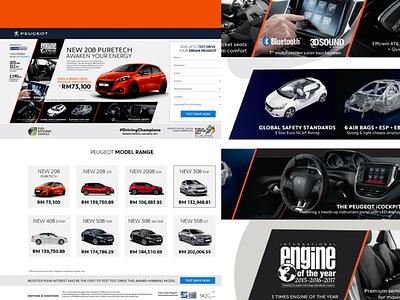 Peugeot Landing page II webdesign microsite landing page branding ux design
