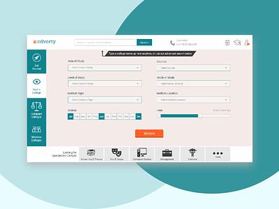 Edverty - educational portal shot 1 ui branding ux design webdesign