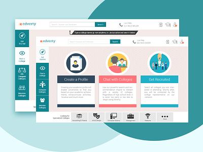 Edverty shot 2 portal user interface ui ux webdesign branding ux design