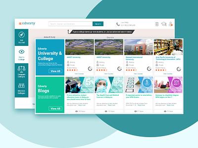 Edverty shot 3 ui ux ux design webdesign branding