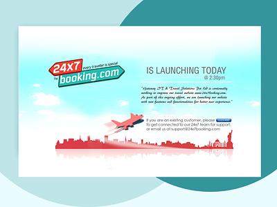 24x7 Booking.com branding design ui webdesign