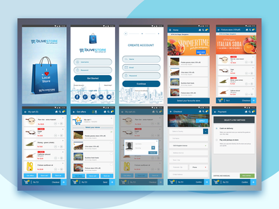 Olive Store App Design appdesign branding ux design