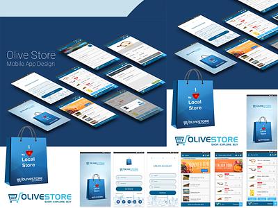 Olive store mobile app design ui ux ios app design webdesign ux design branding