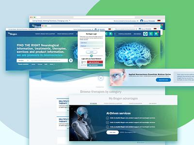 My Biogen MVP POC ux ui design webdesign ux design branding