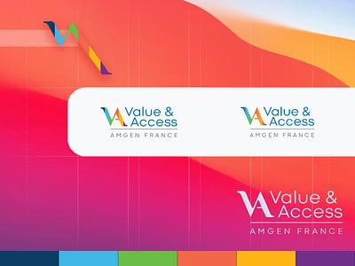 Value & Access logo vector illustration logo design branding