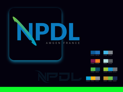 NPDL logo typography vector logo illustration ui design branding