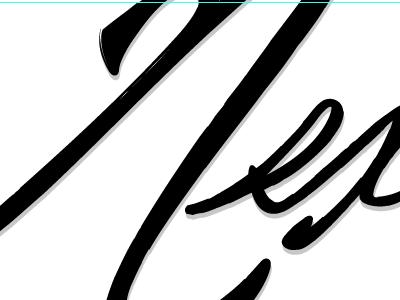 Begining of Next logo sketch ink brush