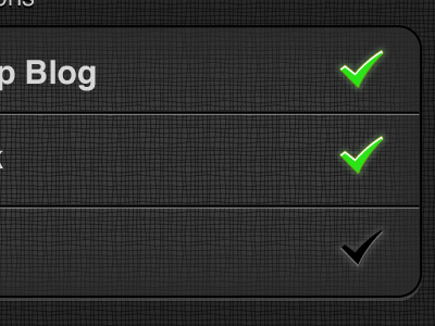 Check, Check, I'm Out iphone settings notifications on off gray black green