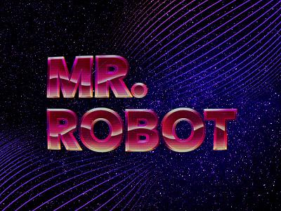 Mr Robot • Graphic Design space mr robot video television retro design retrowave vhs retro