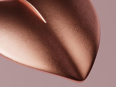 Pothos Leaf Close Up • 3D Design plant rose gold gold texturing blender3d blender 3d design