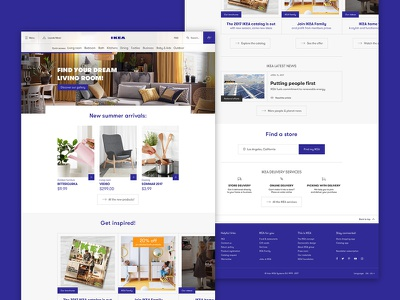 IKEA Landing Page • UI Design redesign ecommerce blue page landing ikea ux ui interface daily