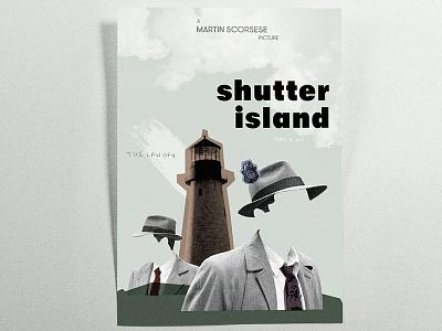 Shutter Island Poster • Graphic Design shutter island collage graphic design poster movie retro 50 old
