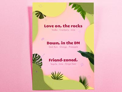 Valentine's Drink Menu • Graphic Design