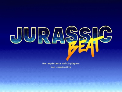 Jurassic Beat • A multiplayer experience game arcade 80s logo design logotype gaming retro texture pattern gradient typography logo
