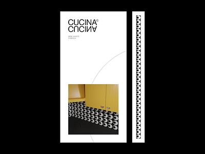 Cucina© blender render poster clean minimalist graphic layout design