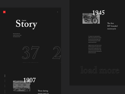 MV Agusta - History black dark ux ui typography redesign bike agusta mv
