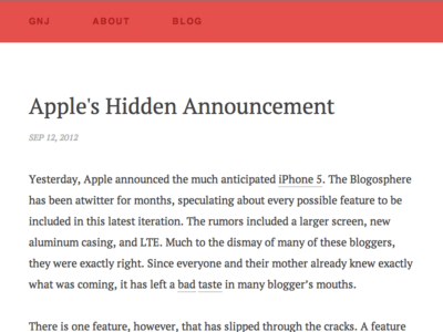 New Blog Style