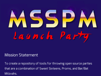 Mysupersweetprommitzvah typography logo desert chrome chrome 80s party
