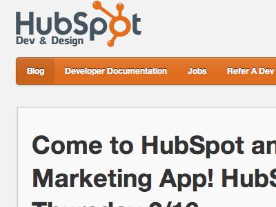 HubSpot Dev Blog ui blog hubspot