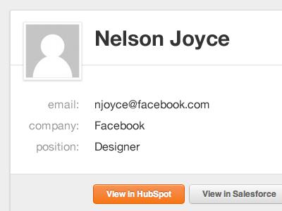 Contact Card profile contact contact card email hubspot