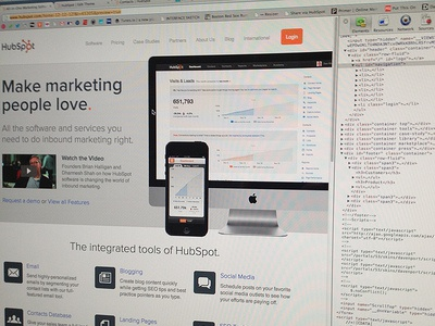 New HubSpot home in the works... marketing hubspot web homepage