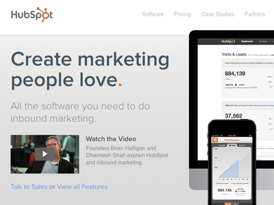 New HubSpot.com Homepage launched hubspot marketing homepage web